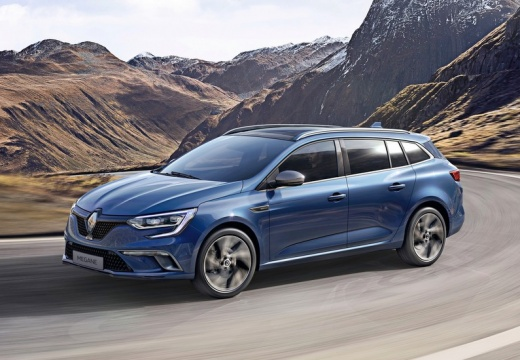 Renault Megane Grandtour ENERGY TCe 100 (seit 2016) Front + links
